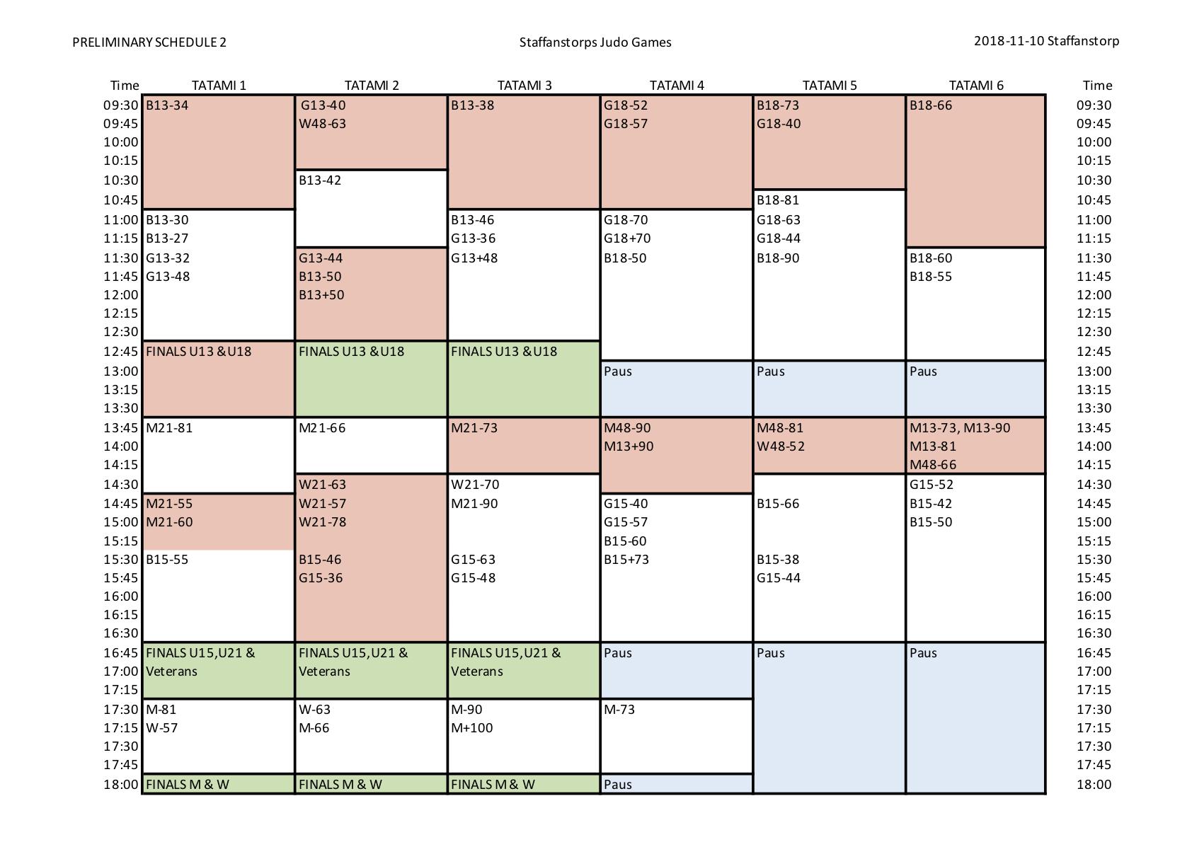 Schedule Judogames 2018 rev 2