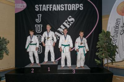 Price podium Staffanstorps Judogames 2018